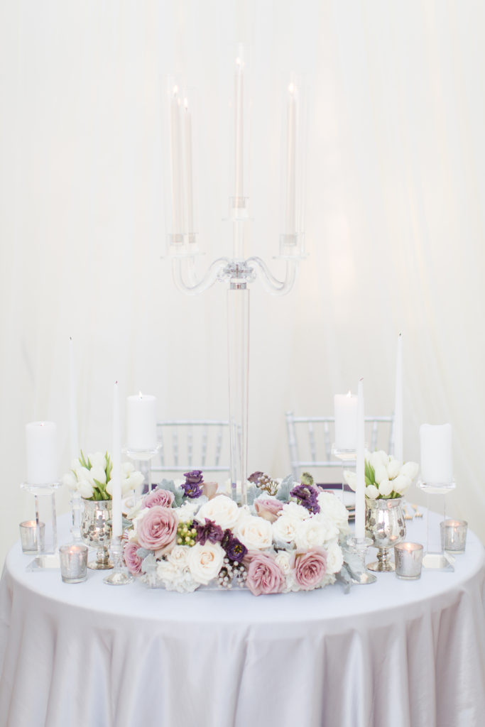 crystal wedding candelabra