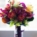burgundy calla lillies