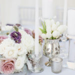 purple white lavender wedding