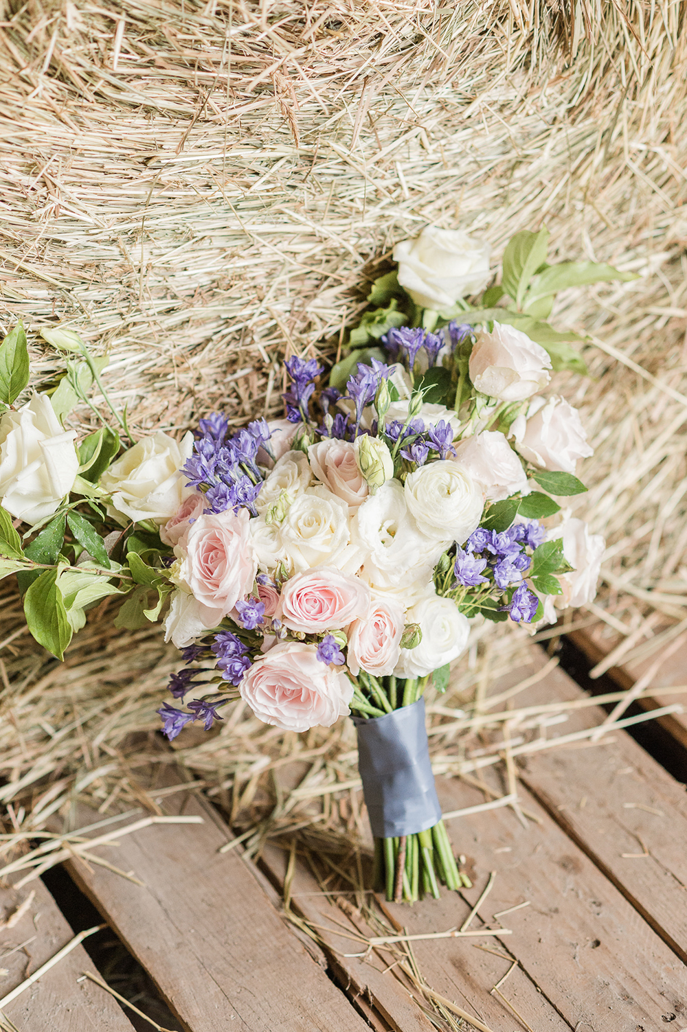 pink blue wedding flowers